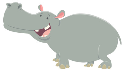 cartoon hippopotamus animal character