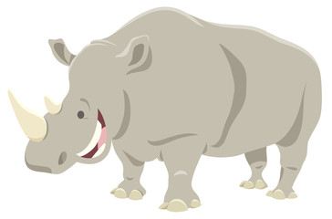 cartoon rhinoceros animal character
