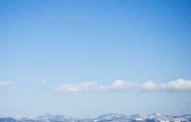 海 山 雪 空 雲 素材