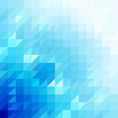 Abstract blue triangle shapes, vector background.