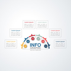 Vector infographic template for diagram, graph, presentation, chart, business concept with 6 options.