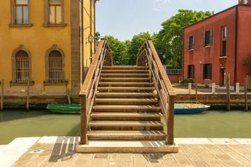 Brücke über einen Kanal in Venedig