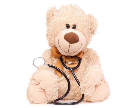 Toy bear stethoscope medical medicine
