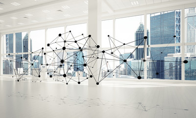 Networking and wireless connection as concept for effective mode
