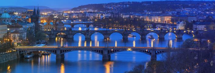 Panoramic view to Prague Czech Republic