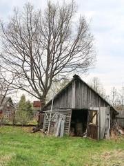 rustic spring landscape