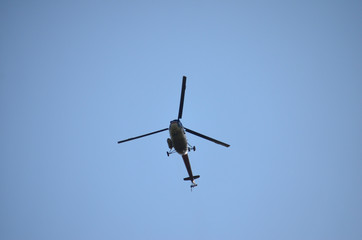 HELICOPTER, RISE IN THE SKY