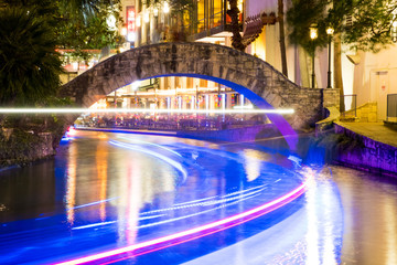Historic San Antonio River Walk at Night