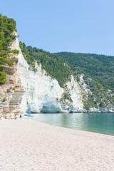 Vignanotica, Apulia - Famous gravel beach in Apulia, Italy