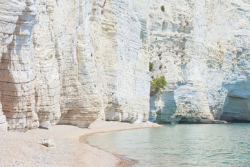 Vignanotica, Apulia - Giant chalk cliffs at the beach of Vignanotica
