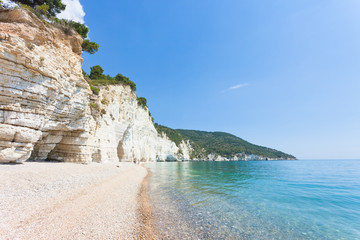 Vignanotica, Apulia - Out for a walk at the impressive beach of Vignanotica