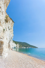 Vignanotica, Apulia - Sunshine at the shingle beach of Vignanotica