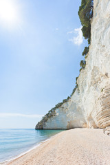 Vignanotica, Apulia - High noon at the gravel beach of Vignanotica