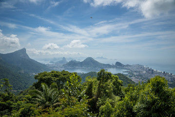 Rio De Janeiro City View from the toop of the Hill