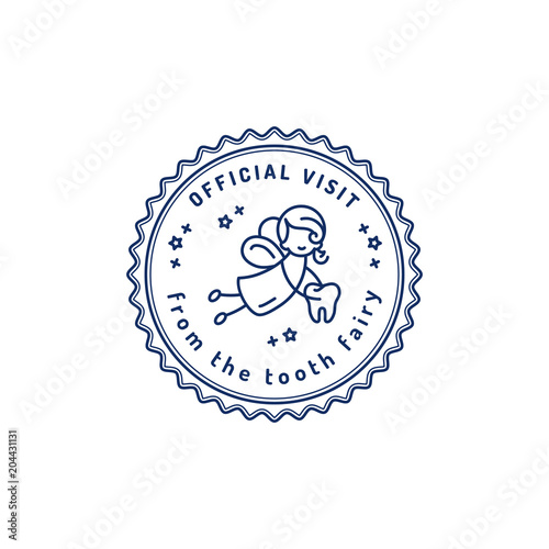 official visit tooth fairy childrens dentistry stamp icon tooth fairy receipt printable dental
