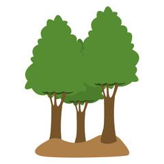Trees isolated cartoon vector illustration graphic design