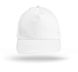 White Baseball Cap on a white background.