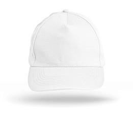White Baseball Cap on a white background.