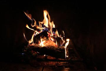 Cozy fire in Fireplace