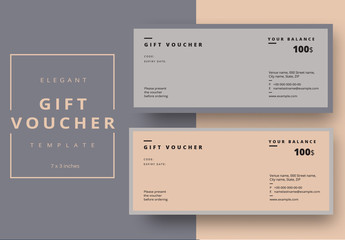 Gift Voucher Layout with Minimalist Design