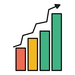 color graphic statistics bar growing diagram