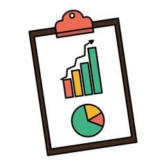 color statistics bar and graphic diagram document