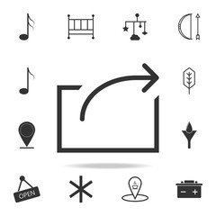 Logout and output sign icon. Detailed set of web icons and signs. Premium graphic design. One of the collection icons for websites, web design, mobile app