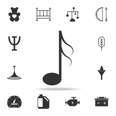 Music noteicon. Detailed set of web icons and signs. Premium graphic design. One of the collection icons for websites, web design, mobile app