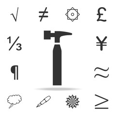 Hammericon. Detailed set of web icons and signs. Premium graphic design. One of the collection icons for websites, web design, mobile app