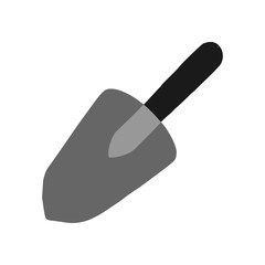 Small garden shovel.  Illustration