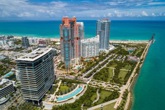 Aerial Miami Beach South Pointe Park