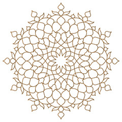 Arabic circle pattern monoline ornament