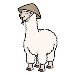 Cartoon Asian Alpaca Illustration