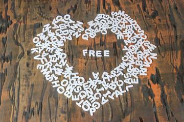 word free inside heart