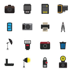 camera photography icon vector illustration