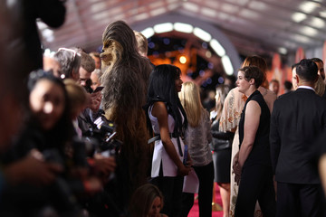 """Chewbacca attends the premiere for the movie """"Solo: A Star Wars Story"""" in Los Angeles, California, U.S."""