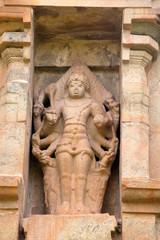 Shiva as Eight-armed Bahirava, niche on the northern wall, Brihadisvara Temple, Gangaikondacholapuram, Tamil Nadu
