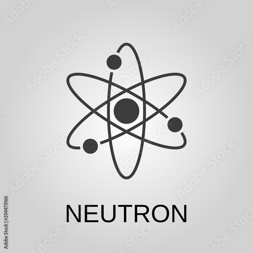 neutron icon neutron symbol flat design stock vector