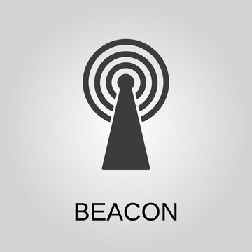 Beacon icon. Beacon symbol. Flat design. Stock - Vector illustration