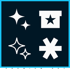 Set of 4 star filled icons