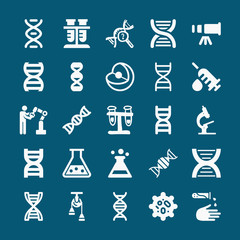 Set of 25 science filled icons