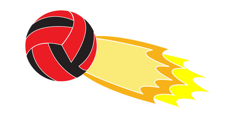 Flying Volleyball logo