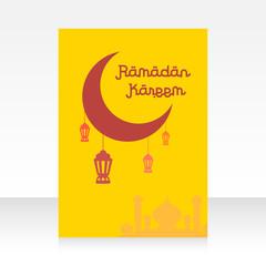 Brochure template ramadan kareem