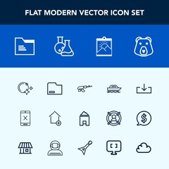 Modern, simple vector icon set with frame, weapon, sea, yacht, gun, web, sky, new, apartment, star, subscription, wild, machine, picture, moon, cancel, document, paper, bear, photo, file, ocean icons
