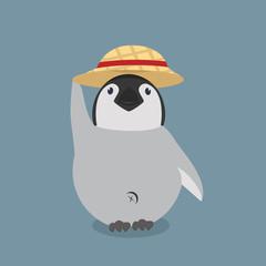 baby penguin wiht hat