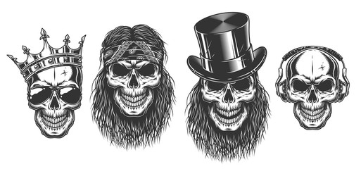 Rock and roll skull set