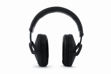 Professional headphones, earphones, isolated on white