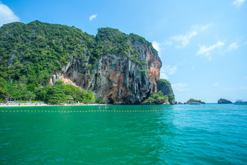 Hong island in national Park at Krabi Province Thailand