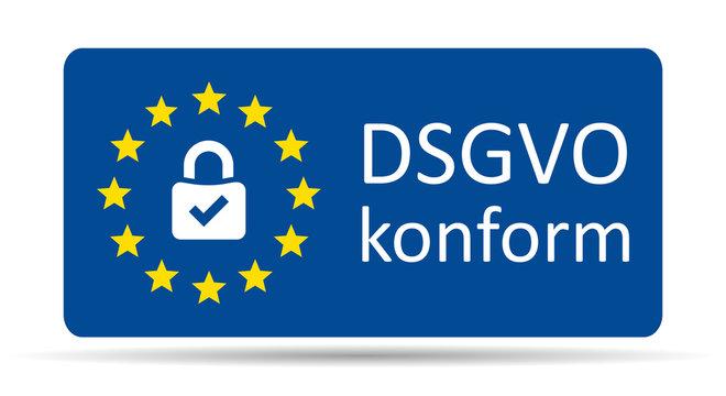 DSGVO Plakette
