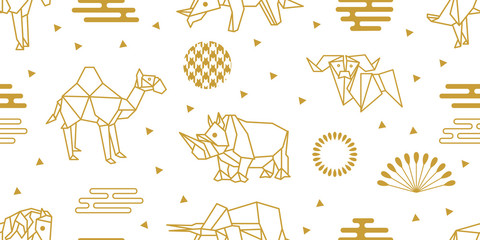 Origami animals set.